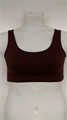 Cotton Spandex Sports Bra - Brown
