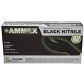 Ammex Black Nitrile Powder Free Exam Gloves