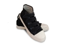 Canvas 4 Velcro Strap High Top - Black or White