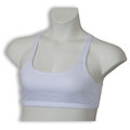 Cotton Spandex Sports Bra - White